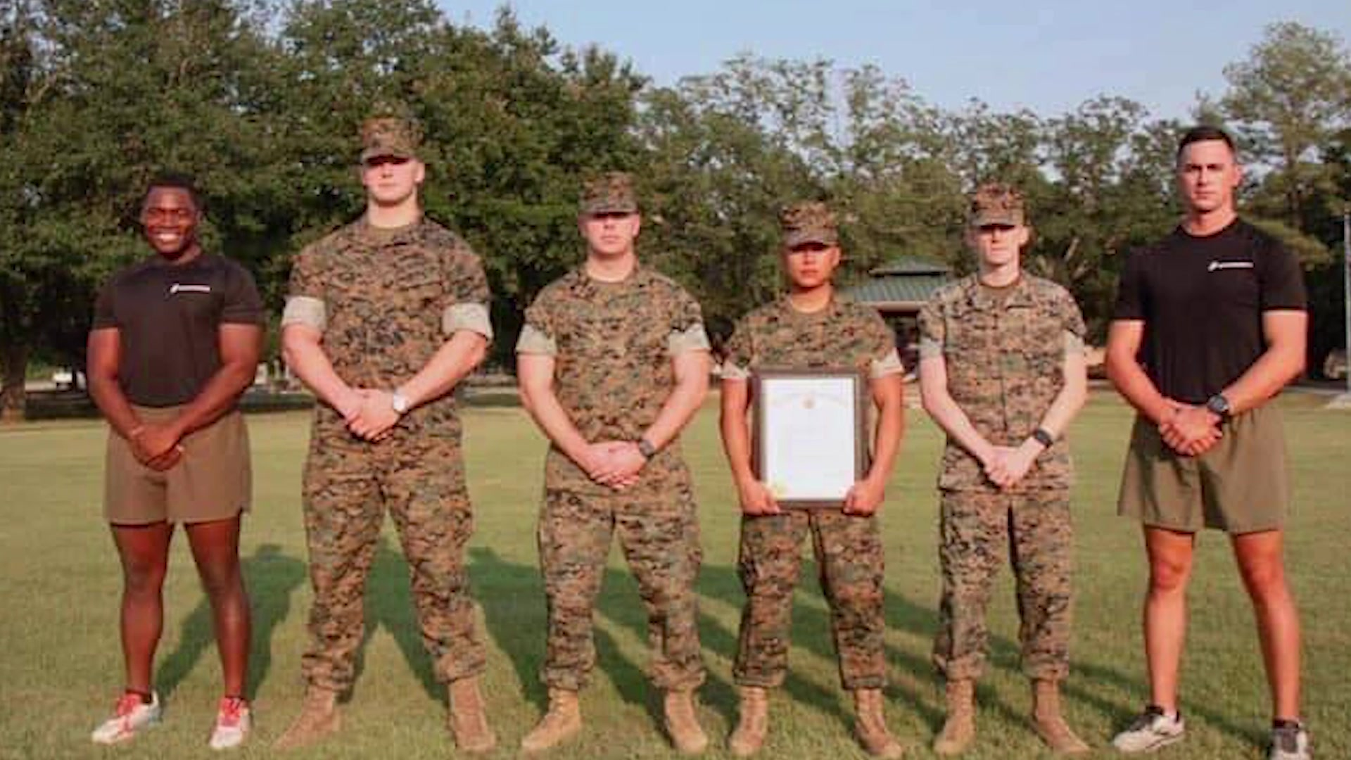 Recruiting Station Baton Rouge Family of the Month. (U.S. Marine Corps video by Sgt. Shellie Hall)
