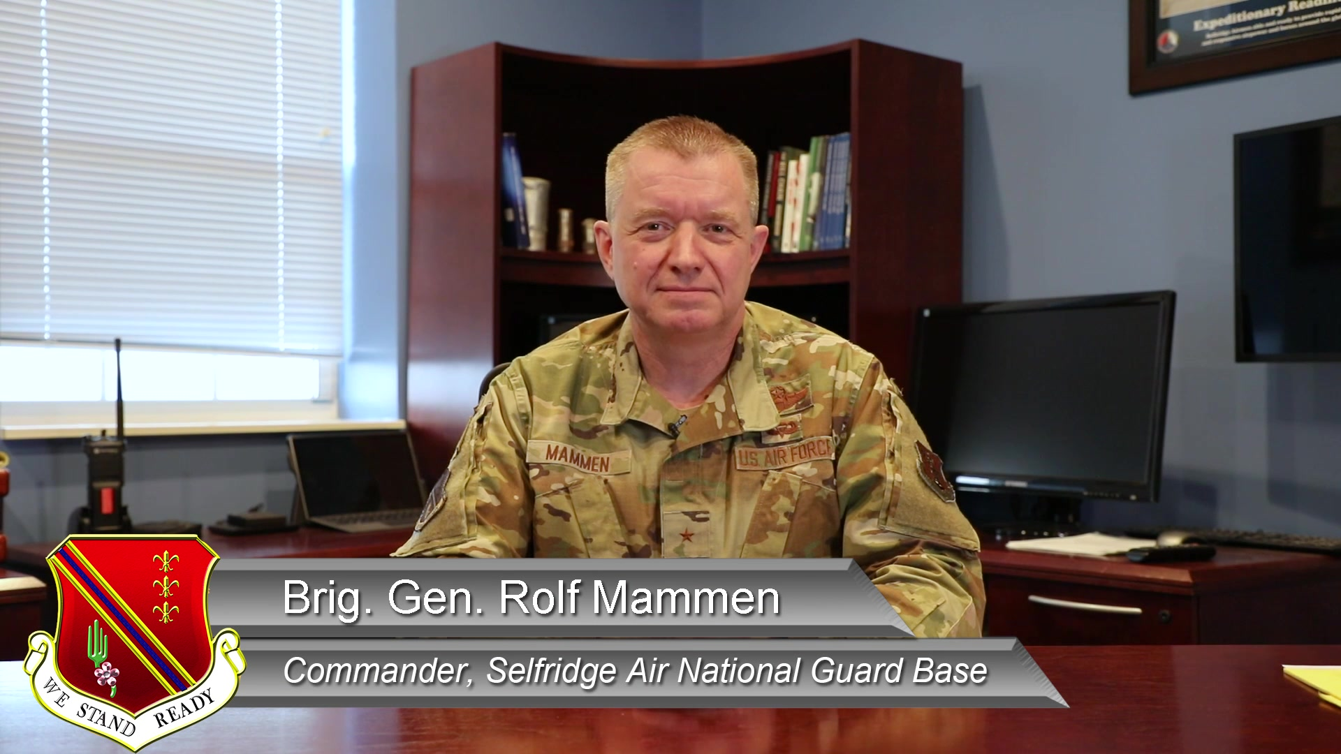127th Wing Commander, Brig. Gen. Rolf Mammen, and 127th Wing Command Chief, Chief Master Sgt. Rick Gordon, deliver their January message to the members of the 127th Wing, Michigan Air National Guard.