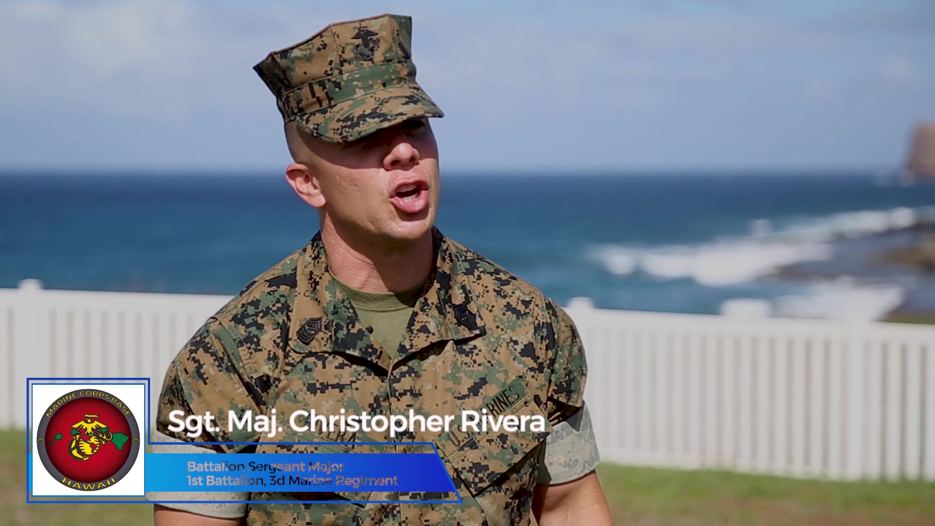 U.S. Marine Corps Lt. Col. Andrew Gourgoumis relinquishes command of 1st Battalion, 3rd Marine Regiment to Lt. Col. Adam Sacchetti during a ceremony aboard Marine Corps Base Hawaii, Jan. 22, 2021. The ceremony was modified due to COVID-19 restrictions, but still served to honor the tradition of the passing of the organizational colors between the outgoing and incoming commanding officer. (U.S. Marine Corps video by Sgt. Luke Kuennen)