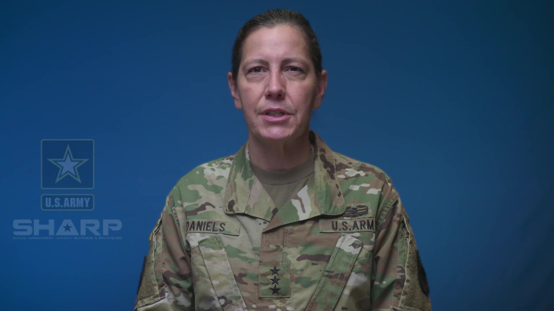 Lt. Gen. Jody Daniels, chief of Army Reserve and commanding general, U.S. Army Reserve Command, speaks out against sexual assault and sexual harassment in our ranks. All of us must work together to create an environment of trust and respect.