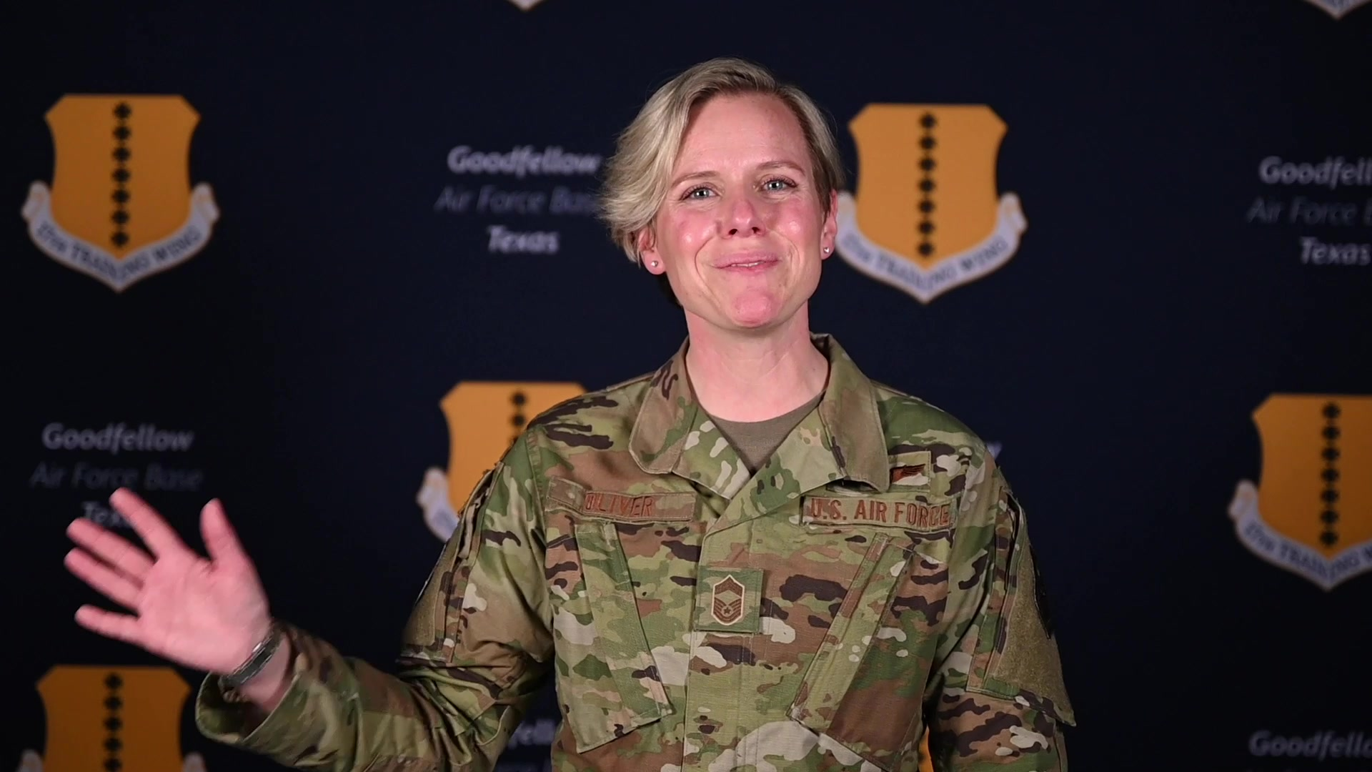 Meet Chief Master Sgt. Breana Oliver! She's the new superintendent for the 17th Training Group.