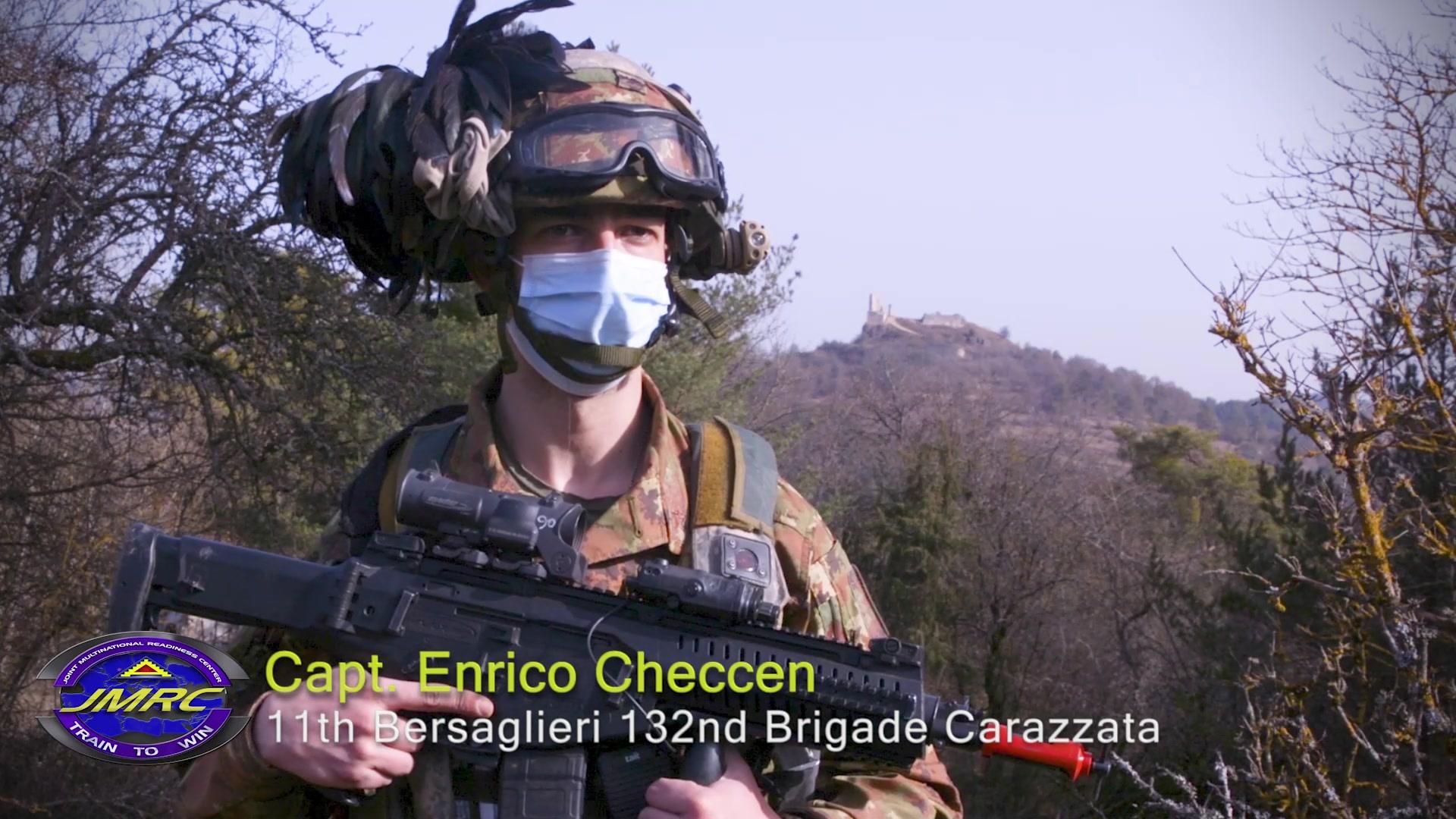 Italian Interoperability at Combined Resolve XV