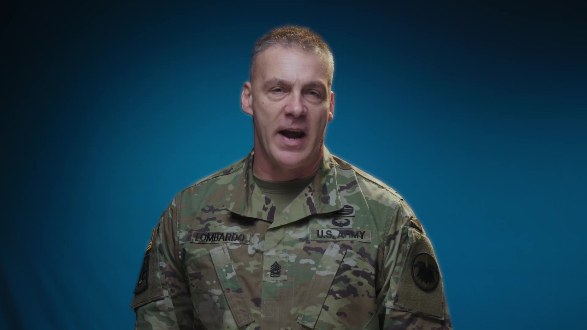 Cmd. Sgt. Maj. Andrew Lombardo, Army Reserve Command Sergeant Major, introduces a new video series he demonstrating Expert Soldier Badge skills. He challenges each member of the Army Reserve to know their tasks in order to become ready now and shape tomorrow. 