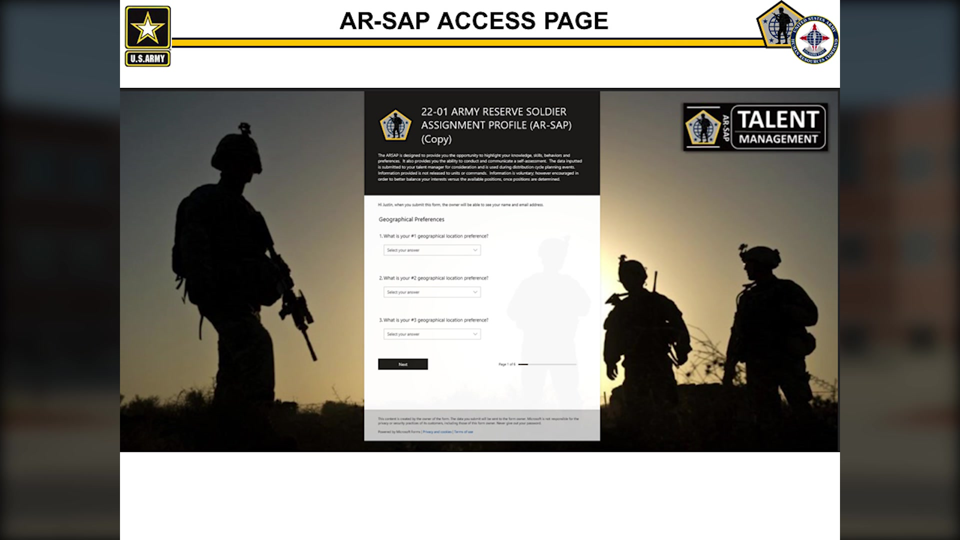 Brig. Gen. Kris Belanger, deputy commanding general, U.S. Army Human Resources Command and director of the Reserve Personnel Management Directorate discusses RPMD and AR-SAP, the Army Reserve - Soldier Assignment Profile. Produced by Glenn Schrock and Scott Bakalars