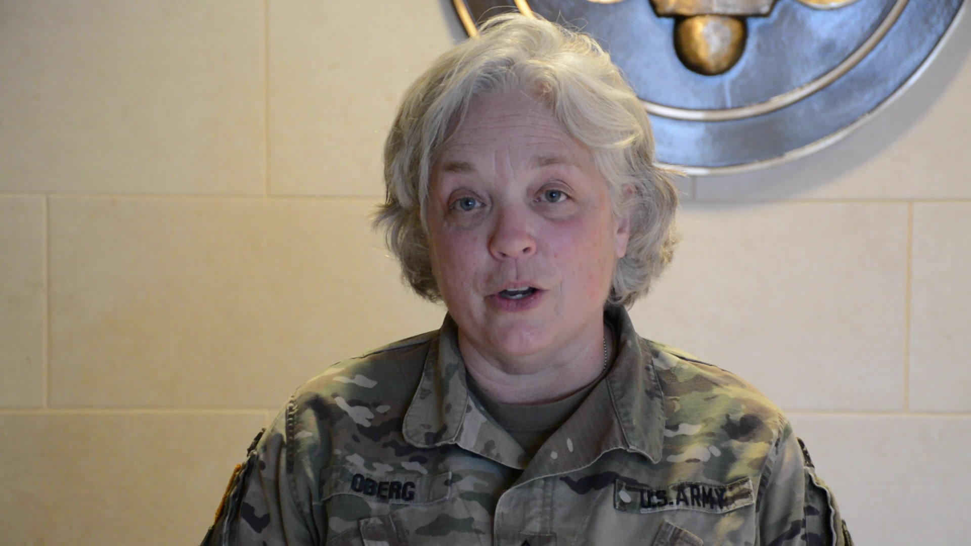 MSG Constance Oberg, a food service operations noncommissioned officer assigned to the 561st Regional Support Group (RSG), tells why she serves in the U.S Army Reserve at the Omaha reserve center, Elkhorn, NE March 28, 2021. The United States Army Reserve Command (USARC) is highlighting Soldiers' stories and how serving in the Army reserve affects Soldiers civilian careers.
