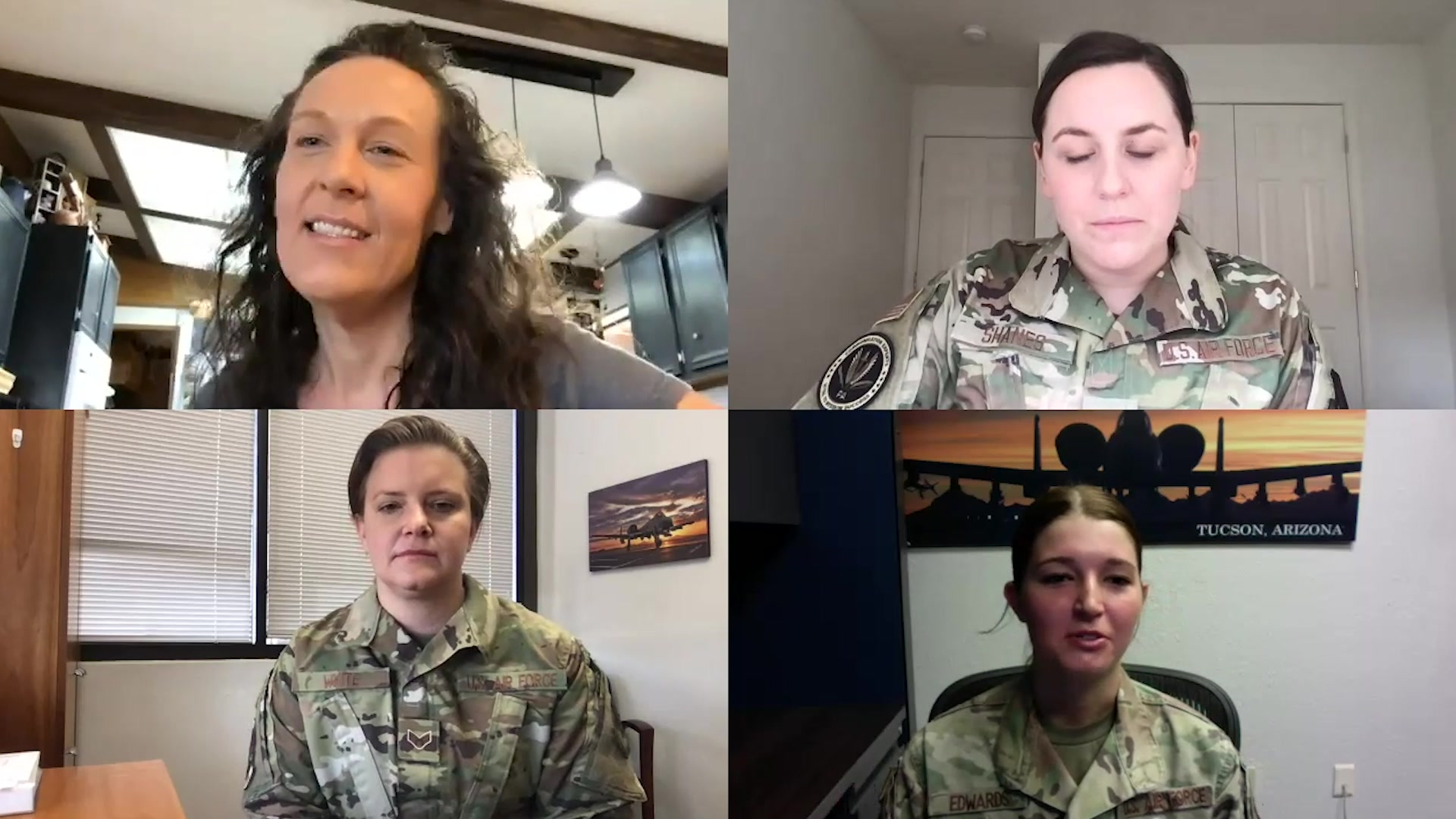 Video of first enlisted female A-10 crew chief, discussing her experience  with two current female A-10 crew chiefs.