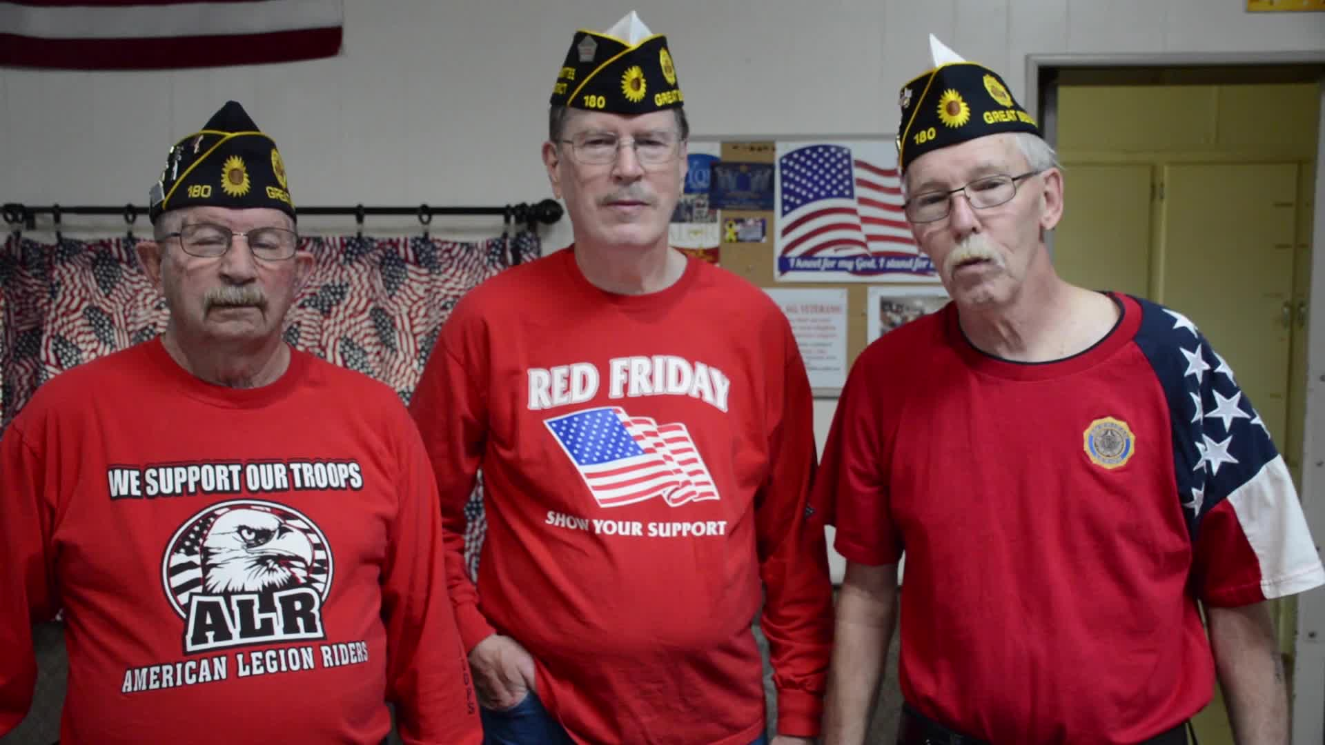 Members of the American Legion #180 wish the United States Army Reserve a happy birthday, April 9, 2021 in Great Bend, KS.