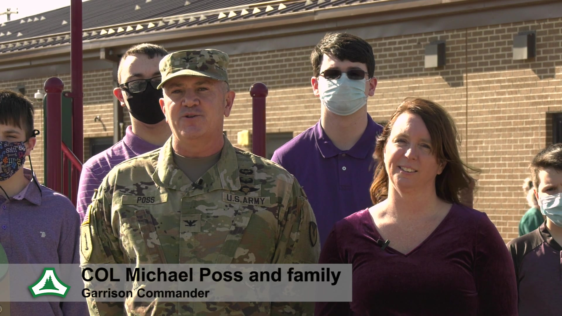 Garrison Commander Col. Michael D. Poss and Garrison Command Sergeant Major Paul Mantha observe Month of the Military Child along with their families and Fort McCoy Child and Youth Services staff at Fort McCoy, Wis.