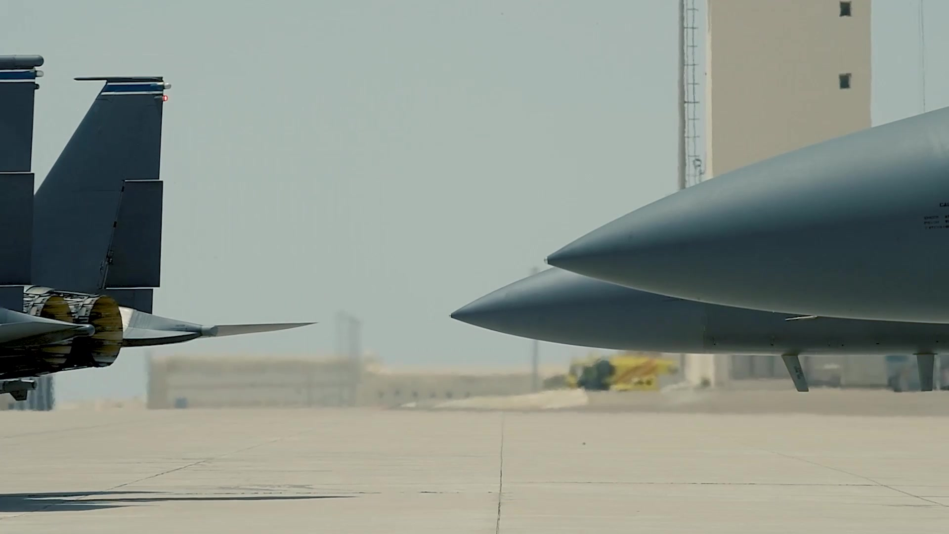 Video of the 494th Expeditionary Fighter Squadron demonstrate an Agile Combat Employment capability  at Al Dhafra Air Base,