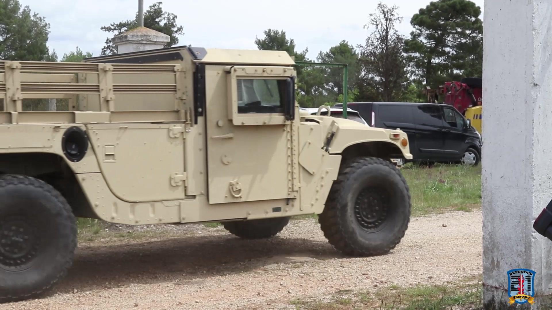 U.S equipment leaves for training area