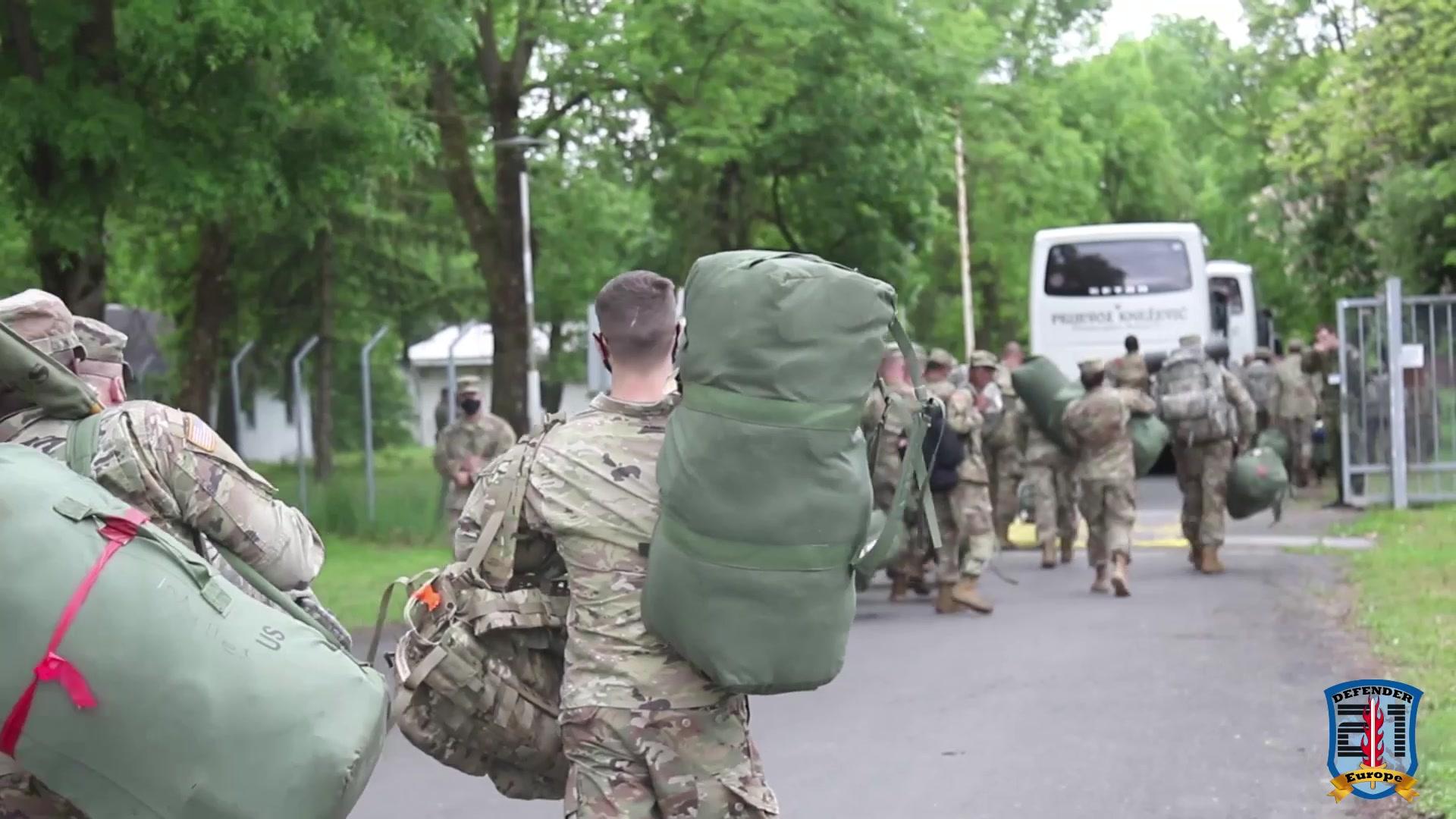 Florida National Guard arrives in Croatia for Defender-Europe 21