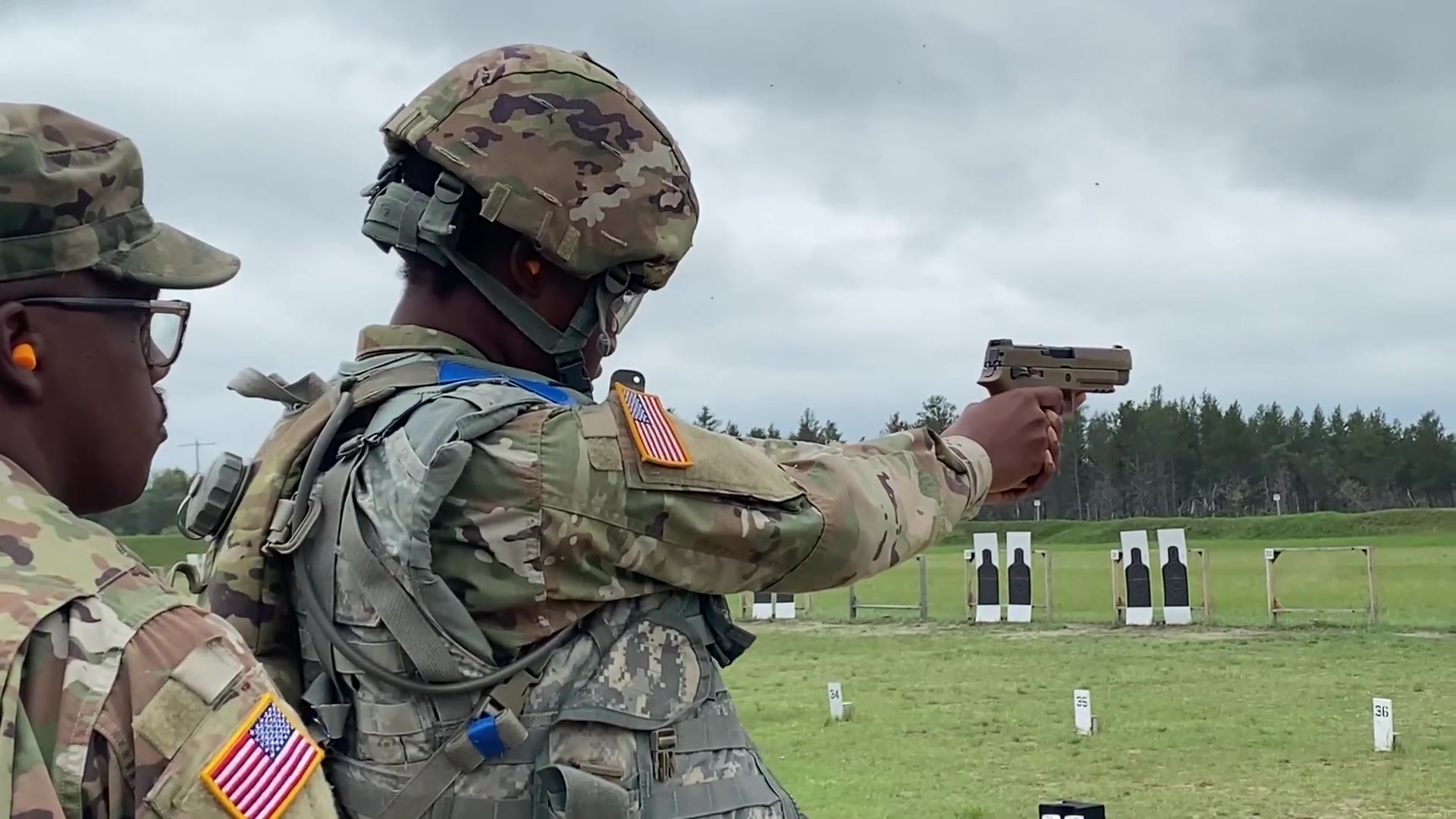 """U.S. Army Reserve Soldiers qualify on the M17 pistol for Excellence in Competition badge in the United States Army Reserve Best Warrior Competition on Fort McCoy, May 23, 2021. Approximately 80 Soldiers from across the nation travelled to Fort McCoy, Wisconsin, to compete in the event that runs from May 19-28, 2021. The 2021 BWC is an annually-recurring competition that brings in the best Soldiers from across the U.S. Army Reserve to earn the title of """"Best Warrior"""" or """"Best Squad"""" among their peers. Competitors are evaluated on their individual ability to adapt and overcome challenging scenarios and battle-focused events, which test their technical and tactical abilities under stress and extreme fatigue. (Video by Army Sgt. Jonathan Over)"""