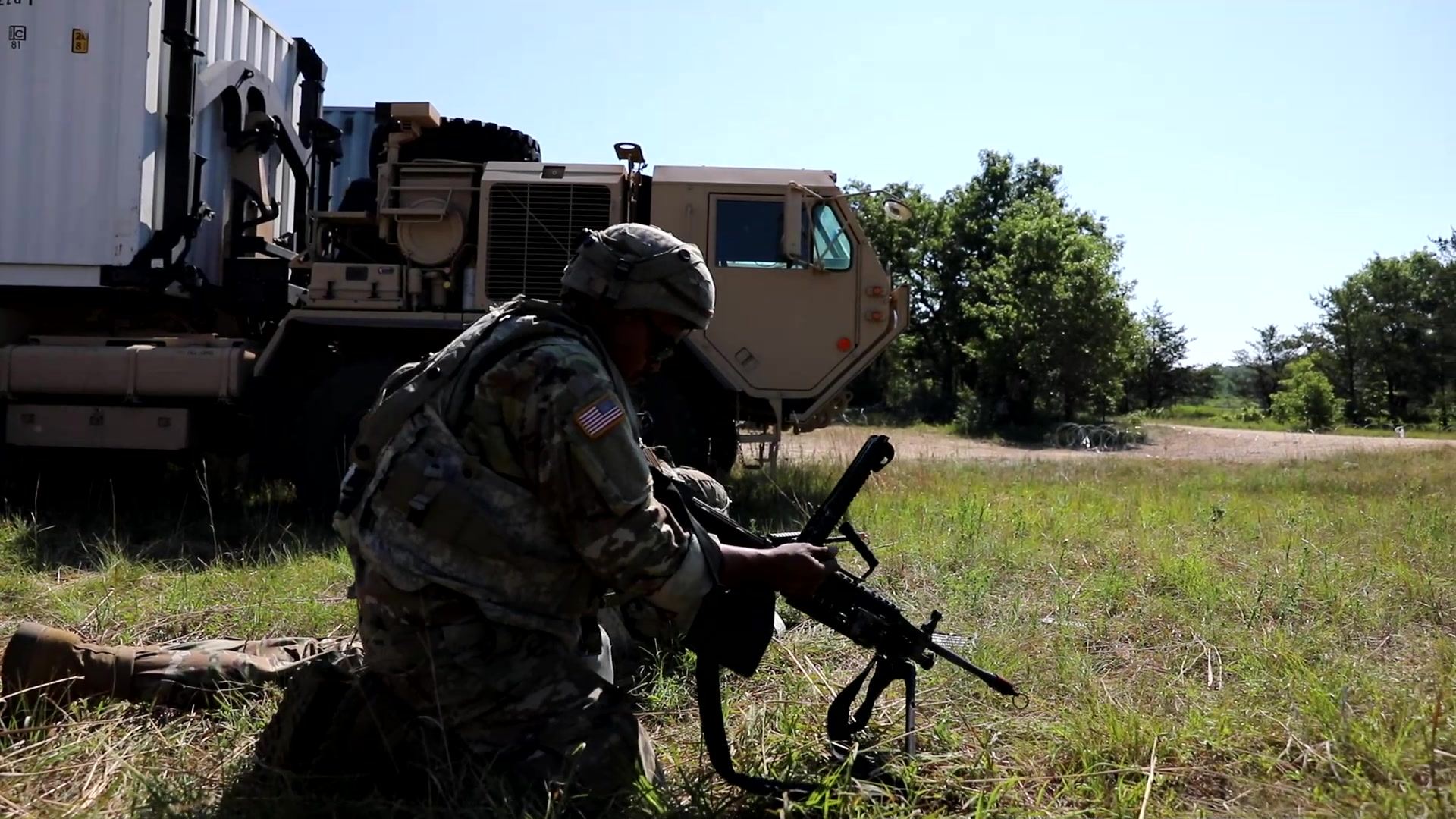 Interview with Staff Sgt. Michael Romero of the 728th Transportation Company featuring footage from the 973rd Quartermaster Company and 728th Transportation Company.