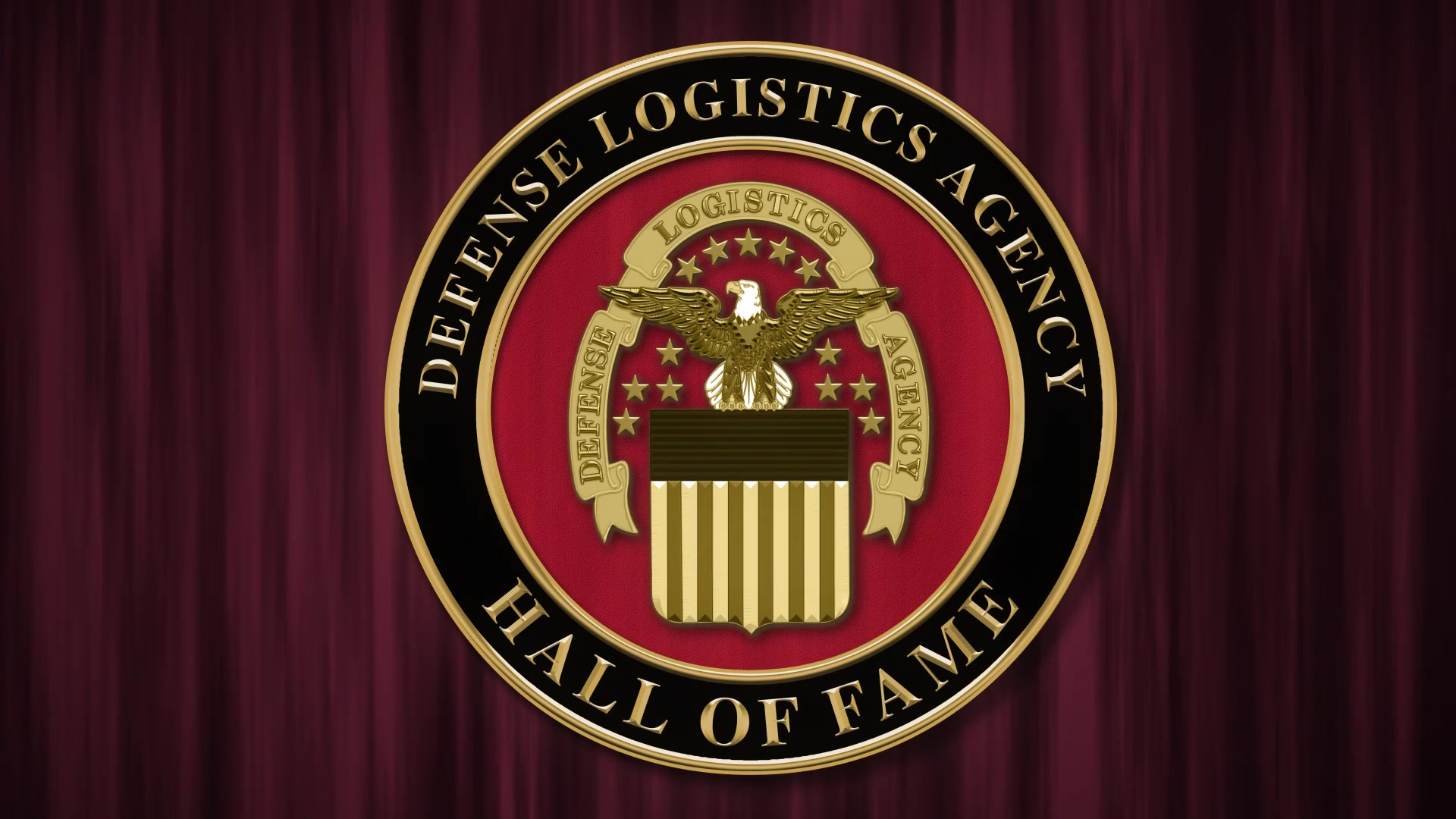 A video still featuring an emblem for the 2020 DLA Hall of Fame