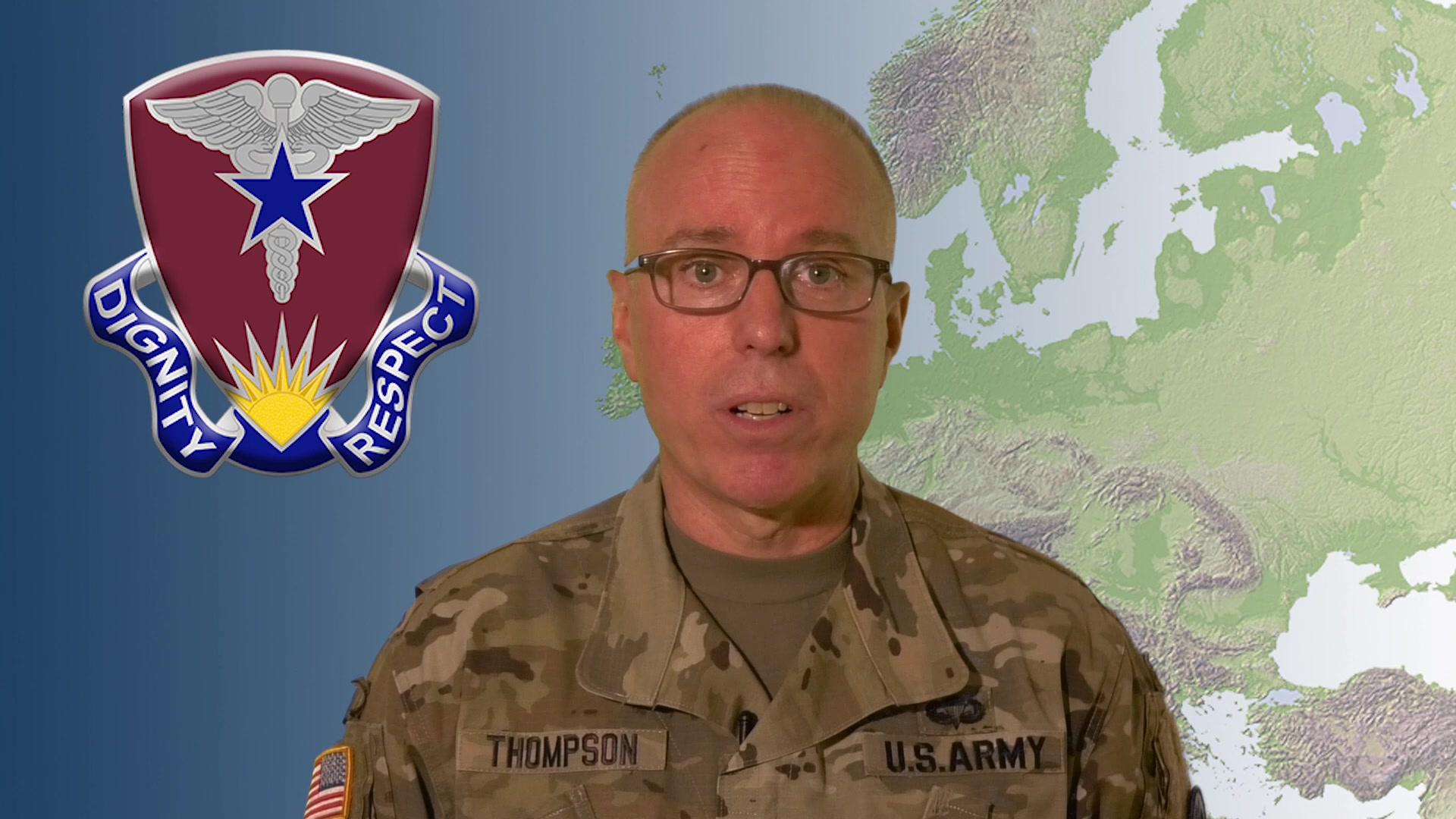 Brig. Gen. Mark Thompson, commanding general for Regional Health Command Europe, provides an update on COVID-19.