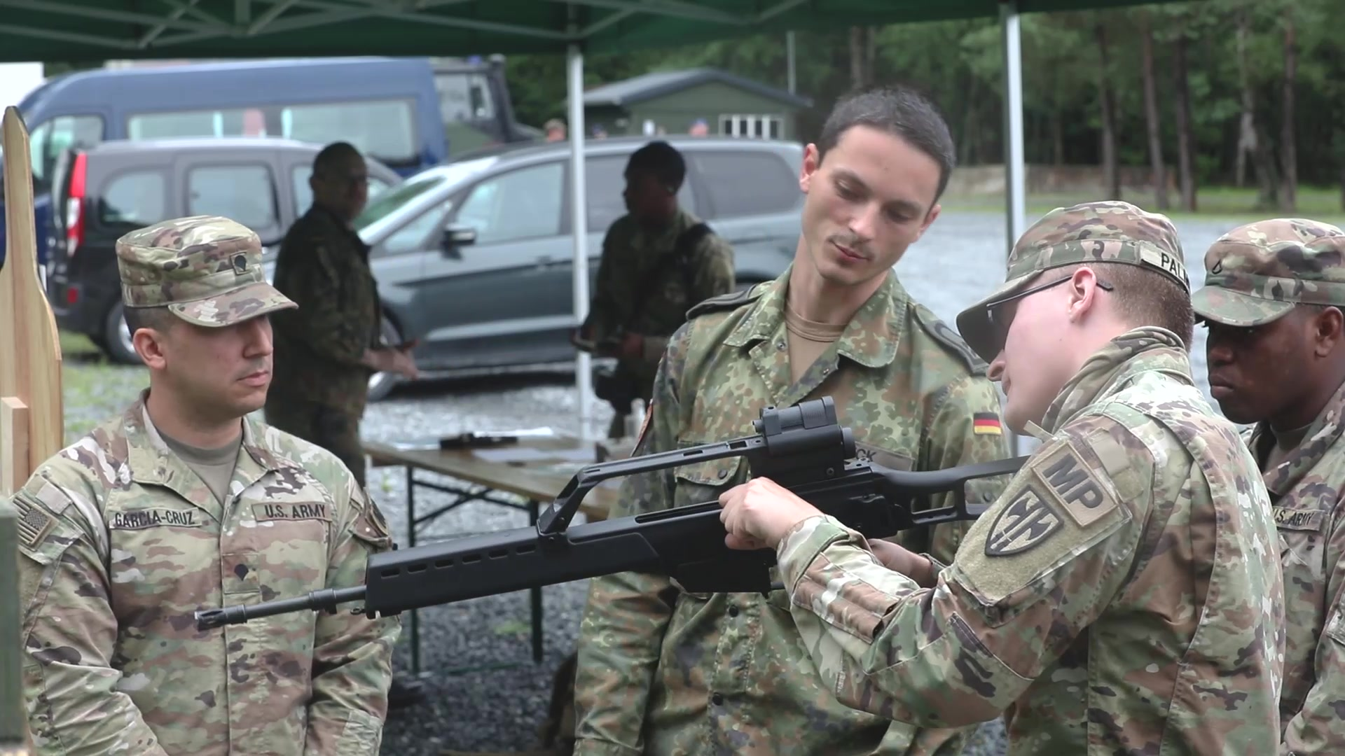 "U.S. Soldiers compete for German Armed Forces Badge of Marksmanship or ""Schützenschnur"""