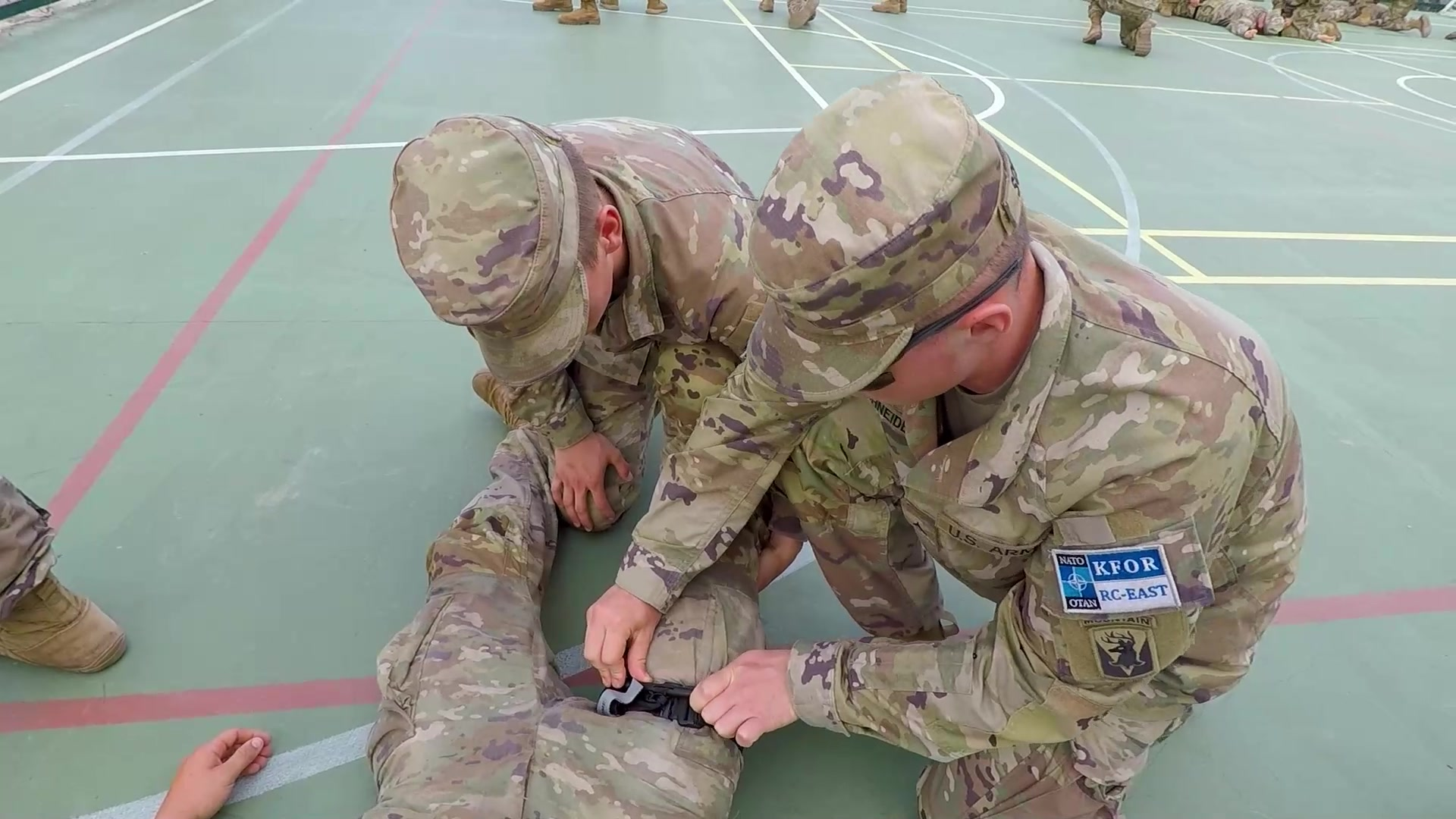 Combat Lifesaver Course for U.S. Cavalry Troops in Kosovo