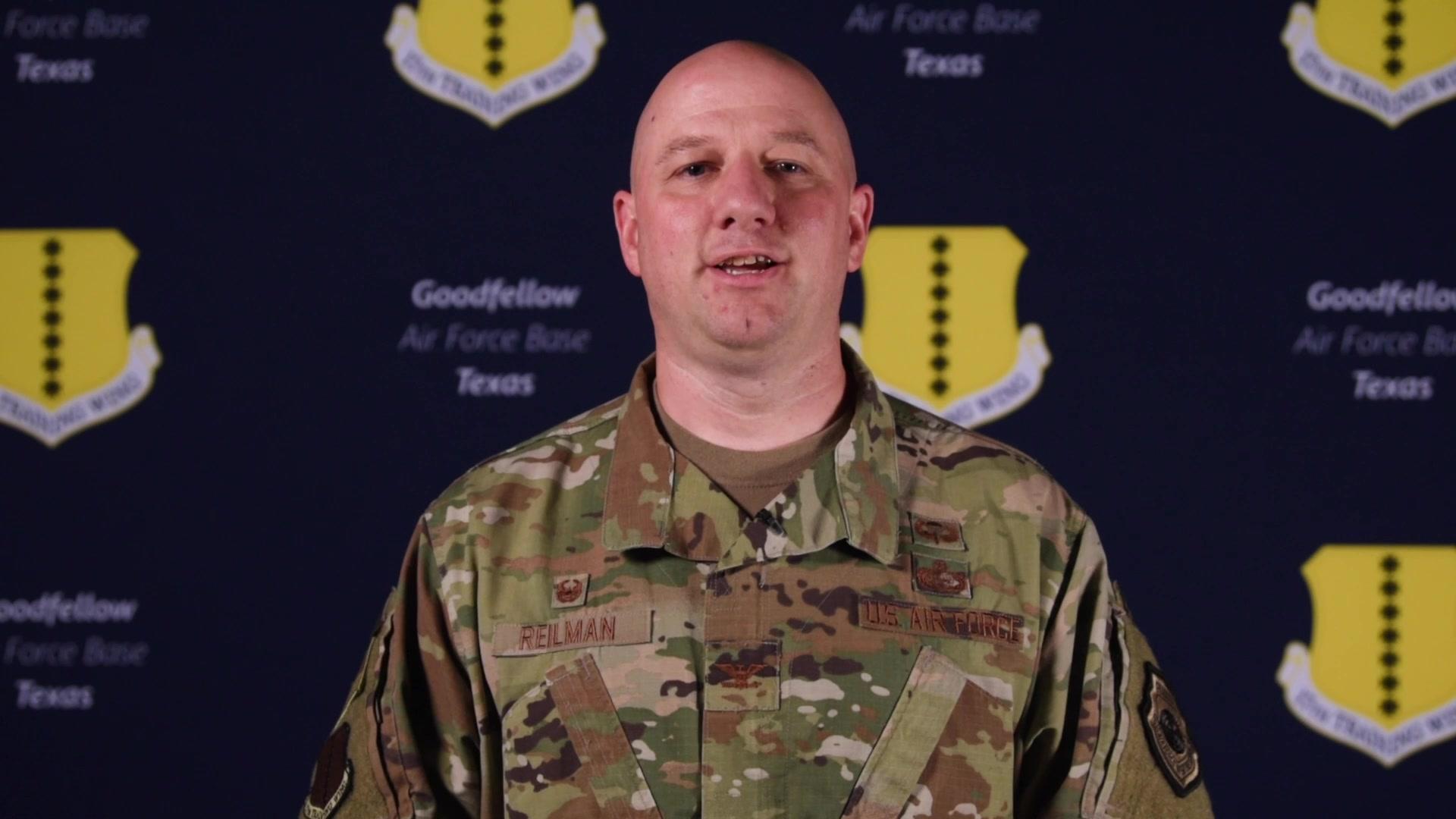 "Meet the new commander of the 17th Training Wing, Col. Matthew ""4"" Reilman!"