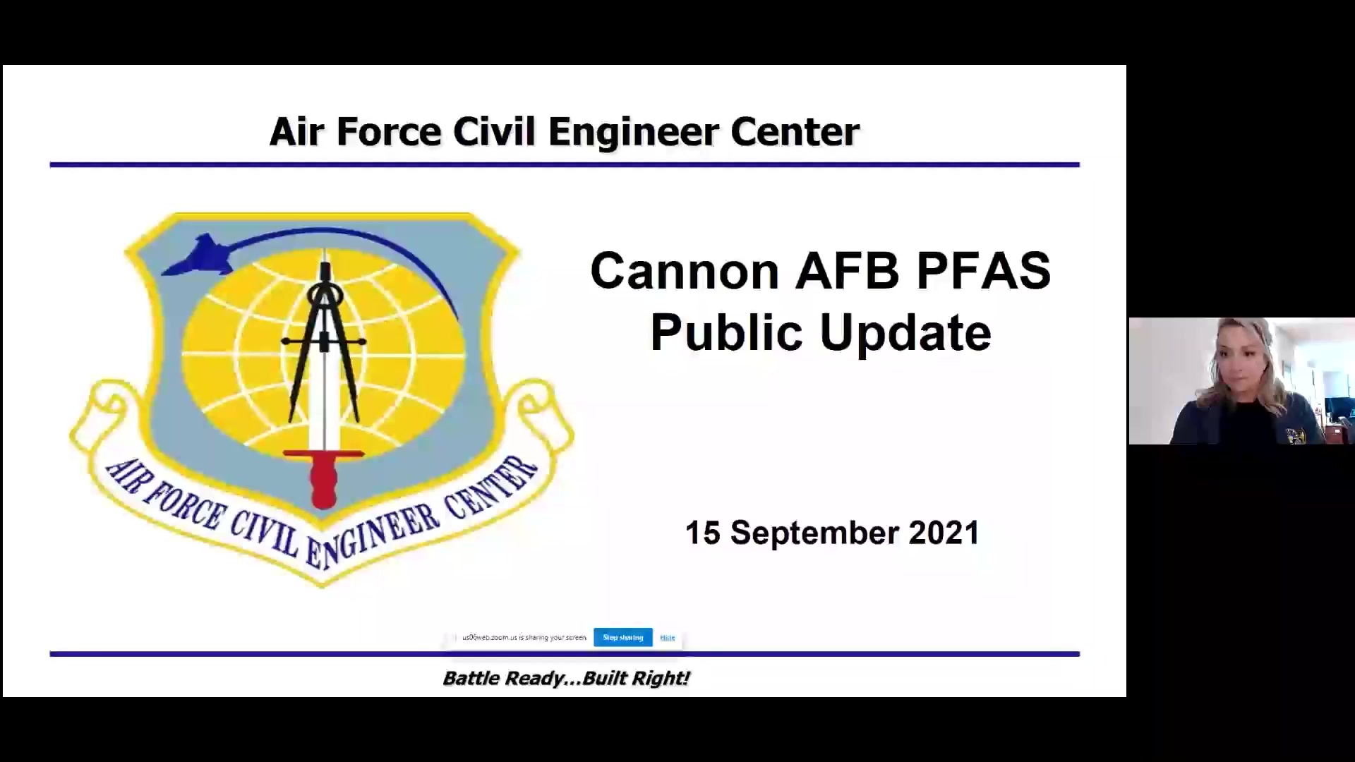 The 27th Special Operations Wing and the Air Force Civil Engineer Center hosted a virtual public meeting to provide updates to its on-going actions to address Polyfluoroalkyl Substances, identified at Cannon Air Force Base, New Mexico.  This is the third meeting of a planned series of quarterly meetings focused on the Air Force's response to PFAS. AFCEC's environmental experts will be available to answer questions regarding these efforts. The Air Force welcomes and encourages public participation and involvement.