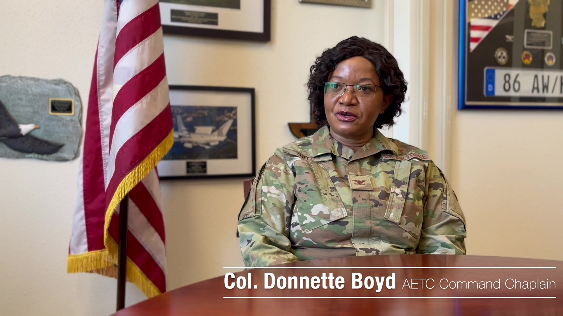 Col. Donnette Boyd, AETC Command Chaplain, explains the chaplain's role in Air Force religious accommodation requests.