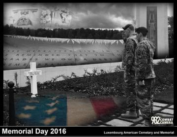 Memorial Day 2016 Luxembourg-American Military Cemetery and Memorial