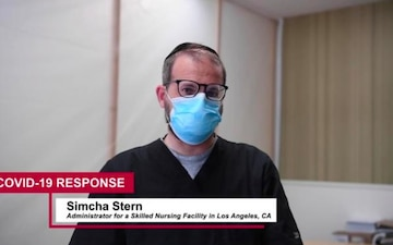 Audio interview with skilled nursing facility administrator about Cal Guard assistance during COVID-19 pandemic