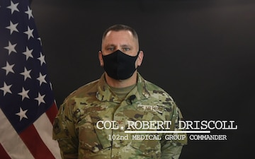 102nd Intelligence Wing Command Message for March 2021 - Col. Robert Driscoll