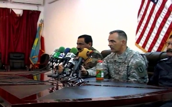 Iraqi Press Conference After Georgian Re-Deployment