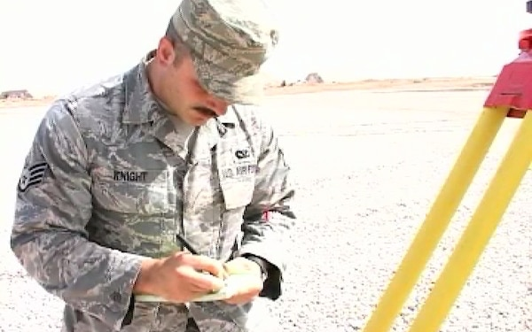 Air Force Civil Engineers and Iraqi Contractors Build Helo Pad