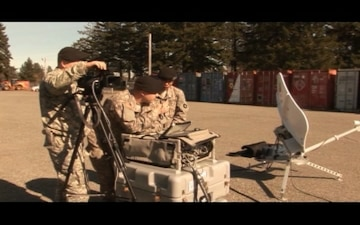 34th ID PAO Transmits Video Half a World Away