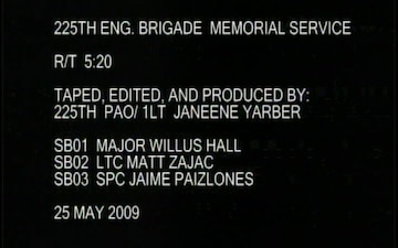 225th Engineer Brigade Memorial Service