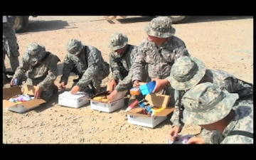Or. Guard Receives Gift Boxes - Package with Graphics