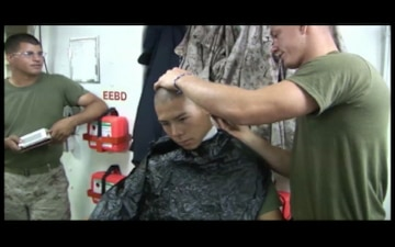 Haircuts Aboard The USS New Orleans,  Part 1