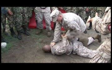 Marines Teach Searching Techniques with Hostile Detainees
