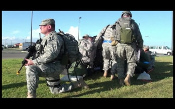 Soldiers Gather Equipment