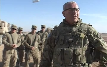 BG Carroll Wishes Happy New Year to Convoying Troops in Shir Ghazay