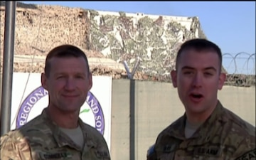 Lt. Col. Dave Connolly and Sgt. 1st Class Alan Davis