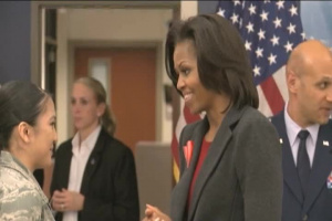 First Lady Michelle Obama Visits Little Rock Air Force Base