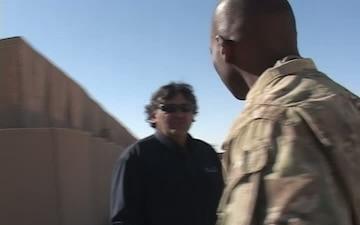 Major Clint Barnes Tours the Kandahar Regional Distribution Center (December 2011)