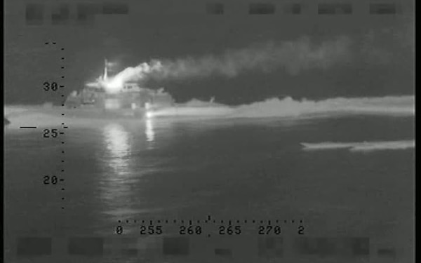 CBP P-3: High speed pursuit of drug boat collision