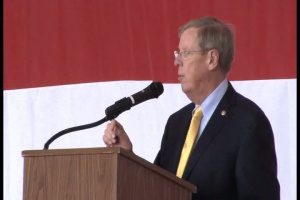 U.S. Senator Johnny Isakson speaks at Academy Day, Dobbins ARB, Marietta GA
