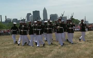 Marine Week Cleveland Silent Drill Platoon Performance