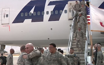Washington Army Reserve Unit Returns to the States