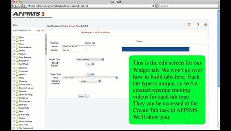 Site Management Module 4: Tabs