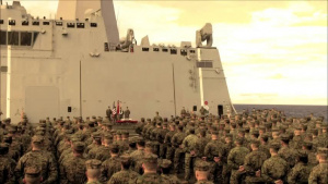 24th MEU celebrates 237th Marine Corps birthday at sea