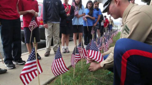 Marines, students honor veterans (no graphics)