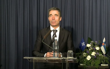 NATO Secretary General Anders Fogh Rasmussen Joint Press Conference with Finnish Prime Minister
