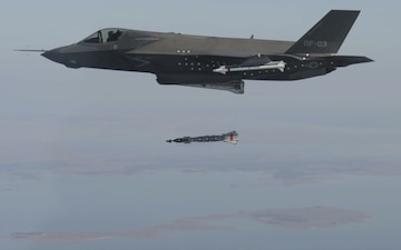 F-35B Weapons Separation Test with GBU-12