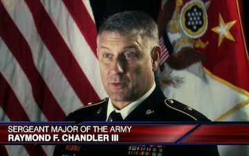 Sergeant Major of the Army Raymond F. Chandler III Interview