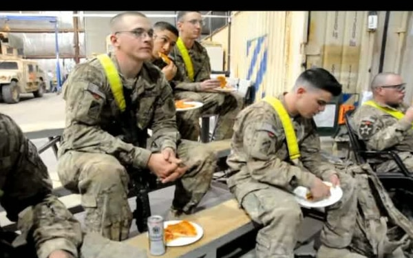 Pizza for Providers: Deployed Soldiers Enjoy Super Bowl With Donated Deep Dishes
